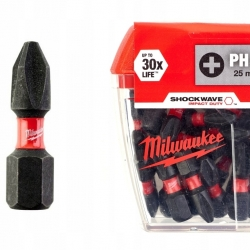 Биты Milwaukee Shockwave Impact Duty PH2 x 25 мм (25 шт)